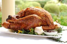 Check out this delicious recipe for Roasted Turkey from Weber—the world's number one authority in grilling. Beer Can Chicken, Canned Chicken, Charcoal Recipe, Turkey Cooking Times, Weber Bbq, Weber Grills, Roast Turkey Recipes, Most Delicious Recipe, Roasted Turkey
