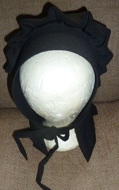 Amish Mennonite Womens Black Bonnet Outer Hat Pa. Dutch Covering Old Order  Amish  Handmade 30fcbe9ef42a