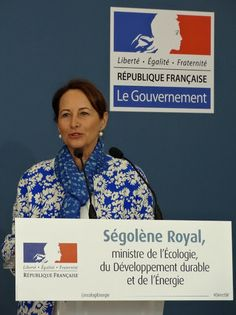 Ségolène Royal France's Minister of Ecology, Sustainable Development and Energy, speaks at a panel on climate change during COP21 in Paris. Photo by Brian Kaylor.