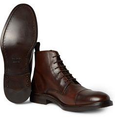 Paul Smith - Jarman Cap-Toe Leather Boots