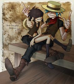 Image about love in Gorillaz 🎧😍😎👌 by Isabel Tapia Gorillaz Band, Gorillaz Noodle, 2d And Noodle, Sunshine In A Bag, Music Machine, Damon Albarn, Fanart, Daft Punk, Imagine Dragons