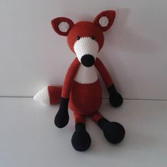 Floris the fox  crochet woodland animal  by HandmadebyFieke