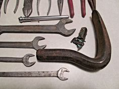 Vintage auto body tools 4 pc lot body hammers body dolly for Irwin motors body shop