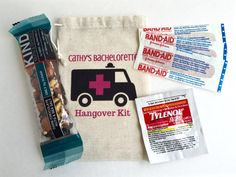 10 Bachelorette Party Favor Hangover Kit Survival Recovery Emergency Custom Bags