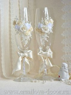 Champagne Glass decorated
