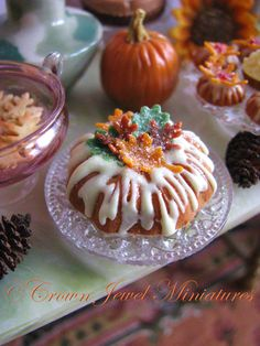 Iced pumpkin bundt cake with marzipan leaves by IGMA Artisan Robin ...