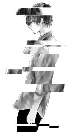 black and white anime boy - Google Search
