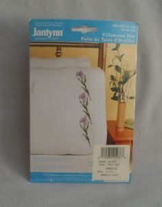 Janlynn Embroidery Pillowcase Kit  -  IRIS TRIO, 2004  | eBay