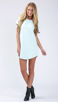 BOYFRIEND SHIFT DRESS IN MINT