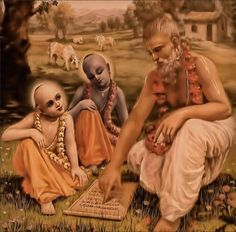 """These things are required: Tapasa Brahmacaryena. (August 11, 1976, Tehran Morn Walk) """"Prabhupada: …I.A.S. civil service examination before one man is posted in some responsible office.…"""