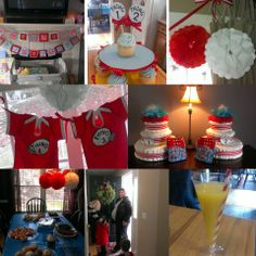 Twins Dr. Seuss Baby Shower