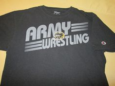 Team Issue - Army Black Knights  NCAA  T Shirt L - WRESTLING #Champion #ArmyBlackKnights