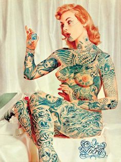Vintage tattoo pin up