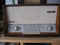 "1954 Nordmende Electra  AM/FM/Shortwave radio     It is 16"" wide, 10 "" high    and 8"" deep"