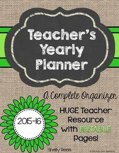 Teacher organization is a big part in running an efficient classroom. Stay organized with a yearly teacher binder that includes everything in one place. Letter To Teacher, Teacher Binder, Teacher Planner, Teacher Organization, Science Classroom, Classroom Themes, Classroom Design, Teaching Math, Teaching Ideas