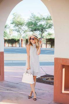 shein dress, stripe dress by fashion blogger simply Sutter