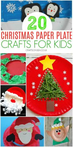 Easy and fun Christmas paper plate crafts for kids to make with ideas for kids of all ages from toddler and preschool to school age kids. Santa crafts, Christmas wreath crafts, paper plate snowflakes and more. Christmas Activities For Toddlers, Christmas Crafts For Kids To Make, Christmas Fun, Holiday Crafts, Preschool Christmas, Holiday Activities, Spring Crafts, Preschool Activities, Holiday Fun