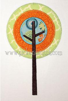 Mod Tree 1 Applique - Pick & Stitch