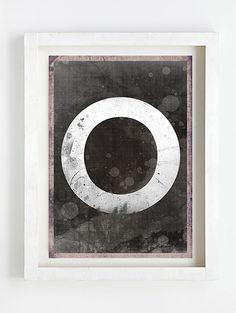 Greeting card by Sophie Klerk,'O' Indigo Prints, Glassine Envelopes, Cellophane Bags, Dark Art, I Shop, Greeting Cards, Symbols, Letters, Pure Products