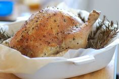 Herb marinated chicken yields the best roasted chicken you'll ever taste! Dukan Diet Recipes, Dash Diet Recipes, Real Food Recipes, Healthy Recipes, Chicken Diet Recipe, Marinated Chicken Recipes, Best Roasted Chicken, Rosemary Chicken, Chicken Livers