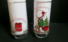 2 COCA-COLA HOLLY HOBBIE AND ROBBY 1980 Cristmas GLASSES  | Collectibles, Advertising, Soda | eBay!
