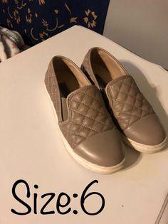 e8f20b9a440a Steve Madden Ecentrq Grey Slip On Size 6  fashion  clothing  shoes   accessories