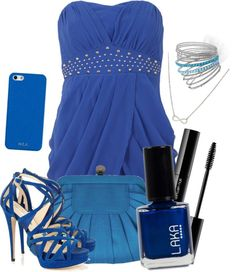"""Blue 3"" by claramartellani ❤ liked on Polyvore"