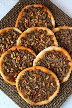 """These """"Arab pizzas"""" probably date back to the fifteenth century and would have appeared in the region of the Beqaa Valley in Eastern Lebanon close to the Syrian border, the capital of which is Baalbek. An Iraqi family named Haidar is at the origin of the recipe."""
