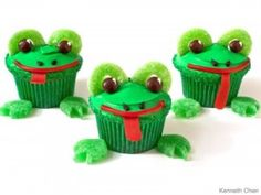 Cupcakes de ranas