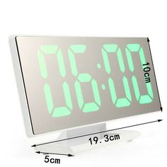 Type: Alarm Clock. 1 x Alarm Clock. Large and bright LED screen, perfect for elders, easy to operate. LED mirror surface design, not only stylish but also practical. Digital display color: white, red, green.
