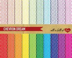 CHEVRON DREAM   Printable Background Sheets