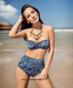 Biquíni Bikini Tomara Que Caia Calcinha Cintura Alta Retrô - R$ 119,90