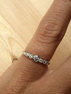 Kate Szabone 7-Stone Bezel Set Diamond Ring