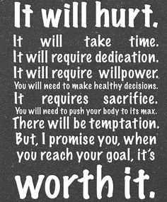 What are you willing to do and endure in order to reach your goals?