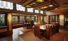 frank lloyd wright home and studio interior - Google Search