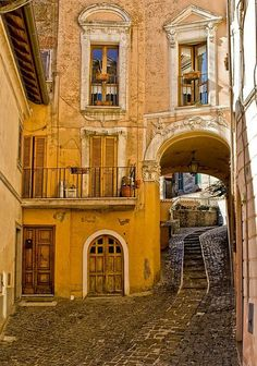 Arched Street, Rome, Italy