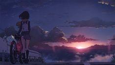 Anime Landscape, Arte Peculiar, Sky Anime, Graphisches Design, Anime Scenery Wallpaper, Computer Wallpaper, Aesthetic Anime, Concept Art, Illustration Art