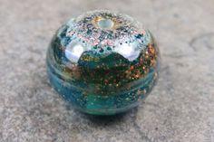 Into the Fire Lampwork Art Beads ~Moon Drop~ Artist handmade glass focal bead