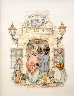 Shop figurative drawings and watercolors and other fine drawings and watercolor paintings from the world's best art galleries. Party Vintage, Anton Pieck, Walter Crane, Edmund Dulac, Dutch Painters, 3d Prints, Dutch Artists, Ex Libris, Children's Book Illustration