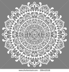 Mandala, tribal ethnic ornament, vector Islamic Arabic Indian pattern - Shutterstock