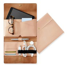Leather Tech Envelope by Mark and Graham / A present idea from the @nytimes 2016 Holiday Gift Guide