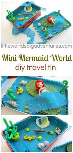 Mini Mermaid DIY Travel Tin   Little Worlds Big Adventures