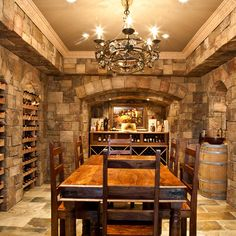 wine cellar design idea