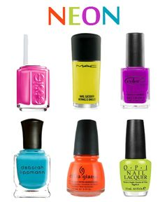 Neon Nail Polish...just not the green..i don't think that would look good on my nails haha