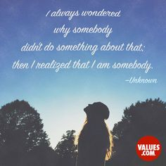 An inspirational quote by Unknown  from Values.com