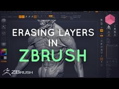 Erasing from Layers in ZBrush - YouTube