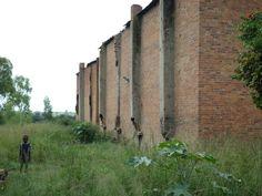 Zimbabwe today. Once proud tobacco barns, now falling apart. Karoi 2015.