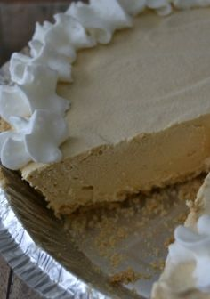 Peanut Butter Pie - easy to make, no bake peanut butter pie | SouthernKissed.com