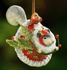 Patience Brewster Mini Ornament - Mrs. Squirrel