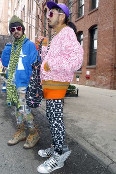 Day 7 NYFW, mixing print outside Jeremy Scott, and wearing Addidas Originals by Jeremy Scott